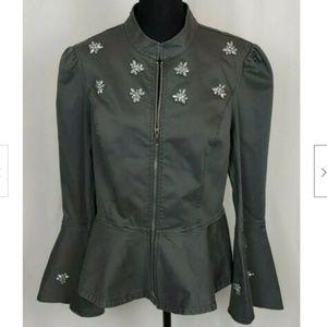 Women's International Concepts Grey Jacket Size M